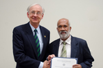 Dr. Belayet Khan, Geology/Geography, with Dr. William L. Perry, President