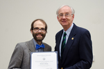 Dr. Michael Gillespie, Sociology/Anthropology, with Dr. William L. Perry, President