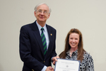 Dr. Kathleen O'Rourke, Family and Consumer Sciences, with Dr. William L. Perry, President