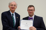 Dr. Chris Laingen, Geology/Geography, with Dr. William L. Perry, President