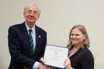 Dr. Melissa Ames, English, with Dr. William L. Perry, President