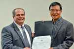 Dr. Glassman with Dr. Hongshan He
