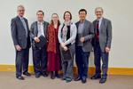 Provost Blair Lord, Radu Semeniuc, Rebecca Peebles,  Mary Konkle, Hongshan He, Douglas G. Klarup, Interim Dean