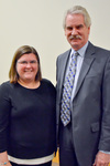 Dr. Amy Rosenstein with Provost Blair Lord by Beverly Cruse