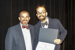 Provost Gatrell with Dr. Michael Gillespie, ACA winner for Teaching by Beverly Cruse