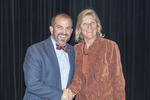 Provost Gatrell with Dr. Gloria Leitschuh, ACA winner for Teaching by Beverly Cruse