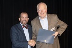 Provost Gatrell with Dr. Gordon Tucker, ACA winner for Research by Beverly Cruse