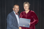 Provost Gatrell with Dr. Marita Gronnvoll, ACA winner for Service by Beverly Cruse