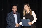 Provost Gatrell with Dr. Nicole Hillier, ACA winner for Service by Beverly Cruse