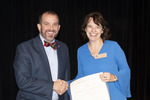 Provost Gatrell with Dr. Kristin Routt, ACA winner for Service by Beverly Cruse