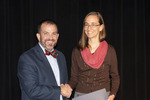Provost Gatrell with Kirstin Duffin, ACA winner for Balanced by Beverly Cruse