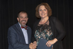 Provost Gatrell with Dr. Melissa Jones, ACA winner for Balanced by Beverly Cruse