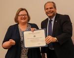Marjorie Worthington, ACA winner for Balanced with President David Glassman by Jay Grabiec