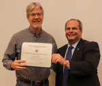 Scott Meiners, ACA winner for Research, with President David Glassman by Jay Grabiec