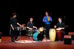 EIU Percussion Ensemble by Booth Library