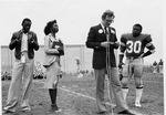 """Panther Award Presentation to Chris """"Poke"""" Cobb (1979 Homecoming Game) by University Archives"""
