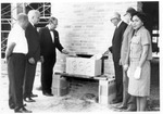 Booth Library Addition, Laying of the Cornerstone by University Archives