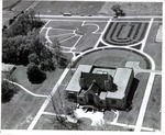 Aerial View, Booth Library by University Archives