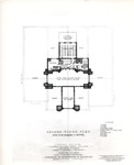 Booth Library, Floor Plan for Original Building (Second Floor) by University Archives