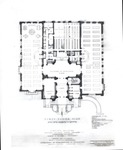 Booth Library, Floor Plan for Original Building (First Floor) by University Archives