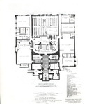 Booth Library, Floor Plan for Original Building (Basement) by University Archives