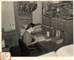 Original Library in Old Main (Reference Librarian's Office) by University Archives