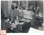 Original Library in Old Main (Library Class Instructor and Office) by University Archives