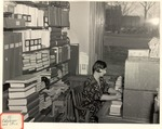 Original Library in Old Main (Cataloger and Office) by University Archives