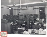 Original Library in Old Main (Main Reading Room, Card Catalog and Stacks) by University Archives
