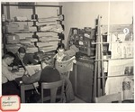 Original Library in Old Main (Newspaper Corner) by University Archives