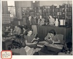 Original Library in Old Main (Loan Desk in Reserve Reading Room) by University Archives