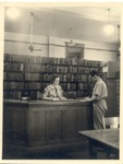 Original Library in Old Main by University Archives