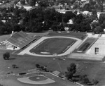Aerial View, Lincoln Field Stadium And Baseball Field by University Archives