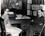 Virginia B. Christian and Harold Marker by University Archives
