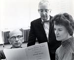 John N. Maharg, J. Robert Pence, and June Johnson by University Archives