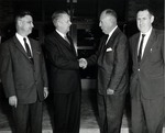 President Robert Guy Buzzard with Governor William G. Stratton and Others by University Archives