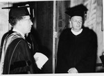 President Quincy V. Doudna And Governor William G. Stratton In Caps And Gowns