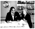 President Quincy V. Doudna And Wife Winifred With Pottery Collection