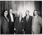 President Quincy V. Doudna With Four Other Men, Ca. 1956
