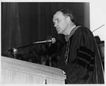 President Daniel E. Marvin Speaking At His Innauguration