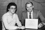 1982 President's Award Winner Charles H. Clark With President Marvin by University Archives