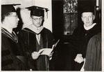 President Quincy V. Doudna, Professor Glenn Seymour, And Governor William G. Stratton In Caps And Gowns