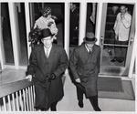 President Quincy V. Doudna Escorts Governor Otto Kerner Into Student Union