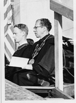 President Quincy V. Doudna At Commencement, Wearing Eastern Medallion