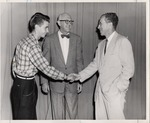President Quincy V. Doudna Meeting A Student