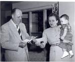 """President Robert Guy Buzzard, Ruth Schmalhausen, And David """"North"""""""
