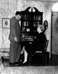 President Quincy V. Doudna At Home With Wife, Winifred