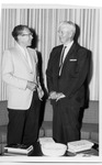President Quincy V. Doudna With Visitor