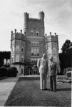 President Daniel E. Marvin With Foreign Visitor, In Front Of Old Main