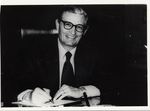 President Gilbert C. Fite Seated At His Desk,1971